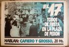 El 17 todos de fiesta en la plaza de Perón
