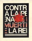 """Diseño para la muestra """"Contra la represión, la tortura y la pena de muerte, y por la libertad de los presos políticos"""""""