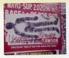 Primer Siluetazo, silueta horizontal sobre cartel publicitario en muro urbano